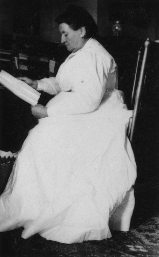 Grandmother at her desk